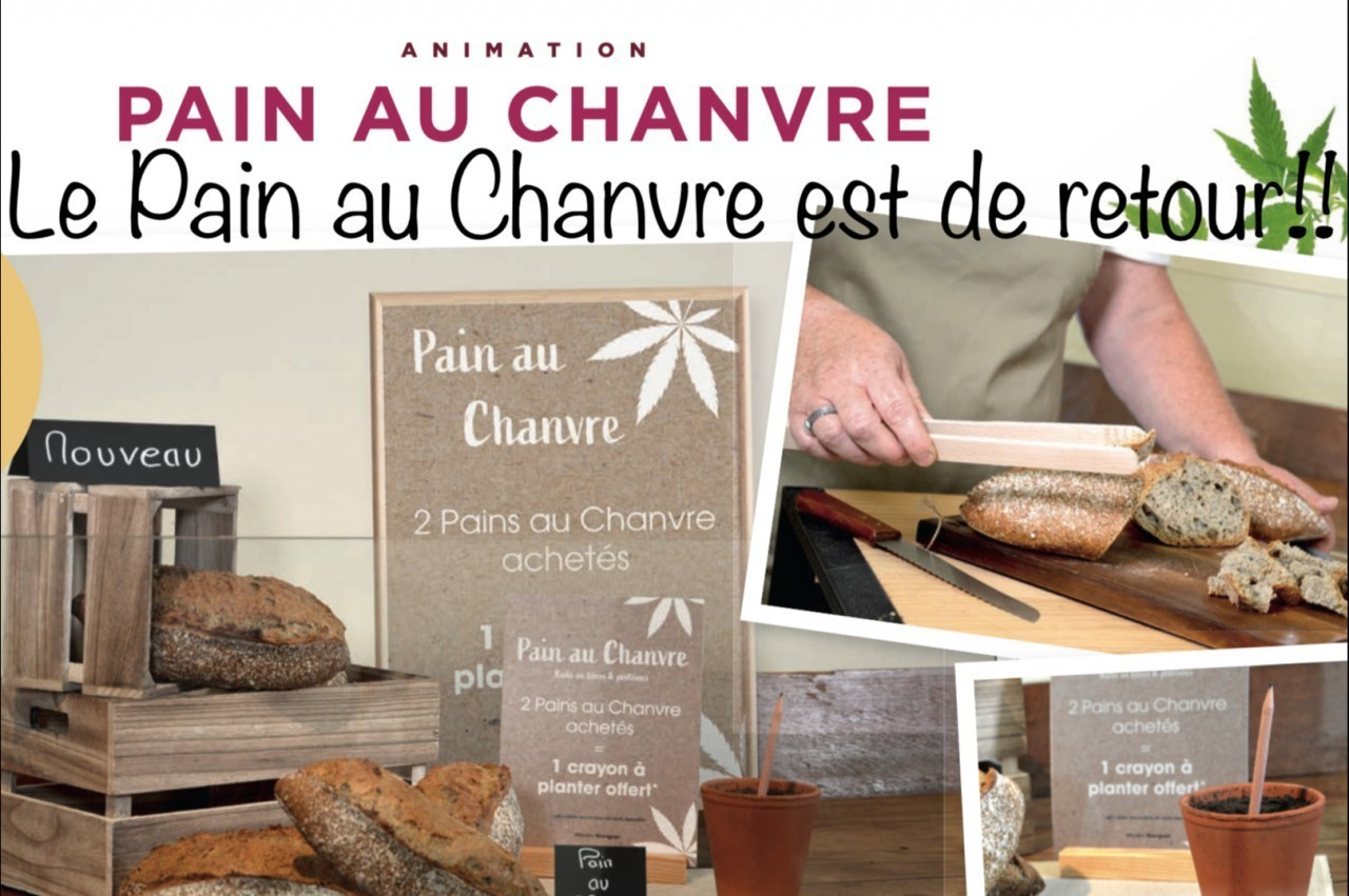 AU FOURNIL D'ANGERVILLE - Pain au chanvre